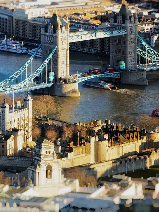 London by helicopter