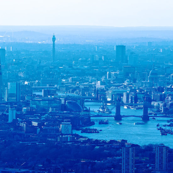City of london by helicopter